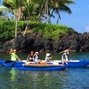 Outrigger Canoe to Captain Cook Monument