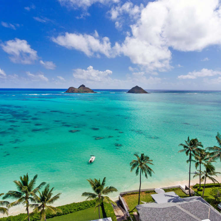 Lanikai beach rental background