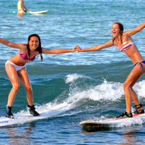 Girls Surf Lessons in Lahaina