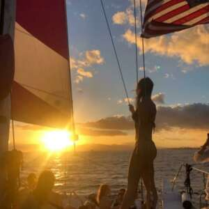 Sunset and Swim Waikiki Catamaran