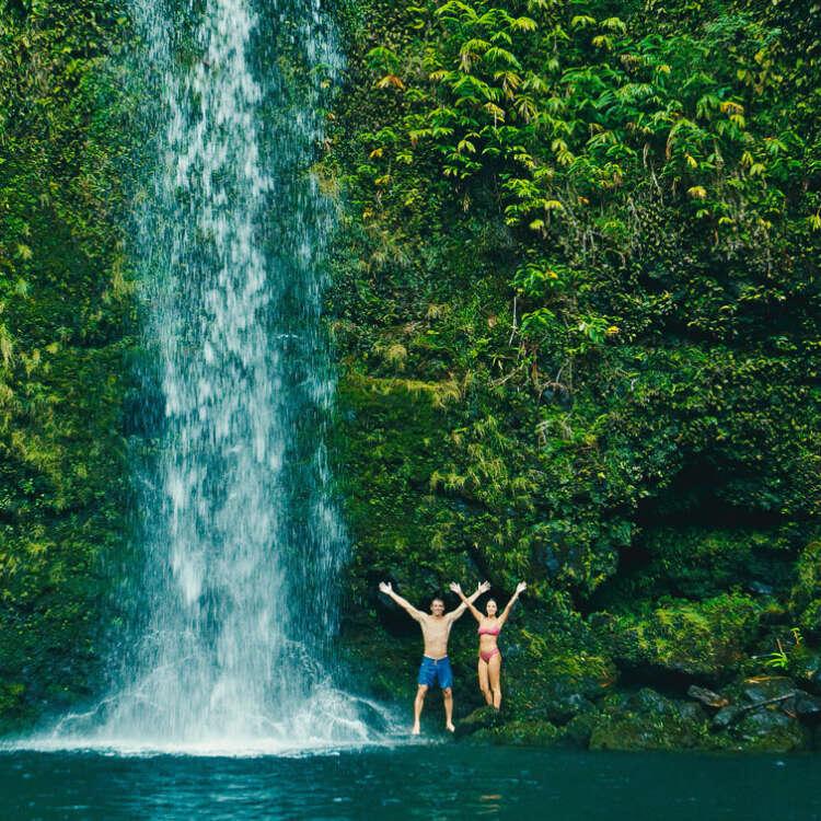 Polynesian residence background