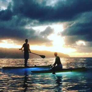 Glow Paddle Boarding under the Moonlight